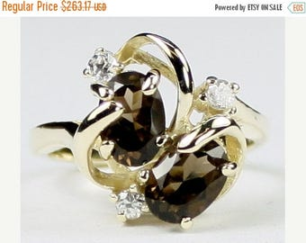 On Sale, 30% Off, Smoky Quartz, 10Ky Gold Ring R016