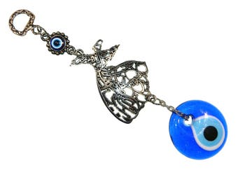 C-0221 - 4cm Lucky Evil Eye, Whirling Dervish Hanging Gift for Protection & Good Luck