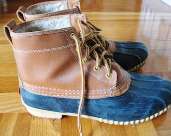 Vintage Sporto Duck Boots by Gold Seal Size 8