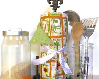 Unpaper Towels, Reusable Paper Towels, Cloth Paper Towels, Snapping Paper Towels----Seed Packets, Garden Theme, Garden Seed