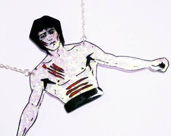 Bruce Lee Enter the Dragon glittery statement necklace
