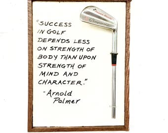 Golf Gift- Arnold Palmer, Character- Reclaimed Wood Golf Plaque