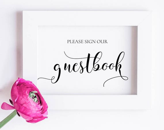 Please Sign Our Guestbook Sign INSTANT DOWNLOAD