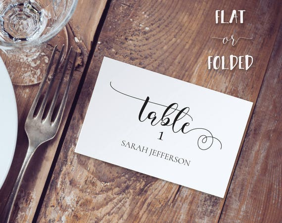 Place Card Template INSTANT DOWNLOAD