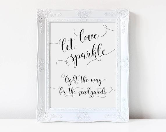 Let Love Sparkle Wedding Sign INSTANT DOWNLOAD
