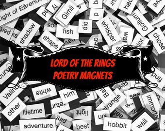 Lord of the Rings Poetry Magnets (LOTR) - Refrigerator Poetry Word Magnets - Free Gift Wrap