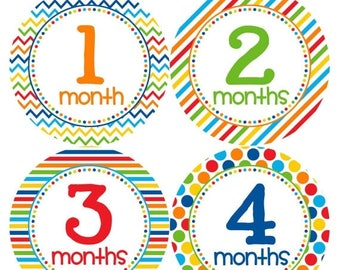 Monthly Baby Milestone Stickers Baby Boy Baby Shower Gift One-Piece Baby Stickers Monthly Baby Stickers Baby Month Sticker 318