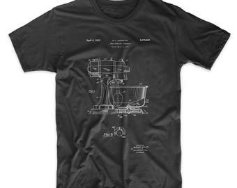 Kitchen Mixer Patent T Shirt, Chef Gift, Cook Gift, Baker Gifts, PP0197