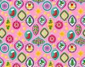 Retro Christmas Ornaments Digital Paper on Pink, Christmas Digital Paper, Christmas scrapbook paper, Christmas paper, sublimation designs