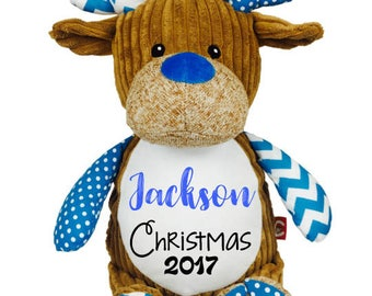 Cubbies Personalized Merry Christmas Stuffed Animal- Personalized Baby Gift  - Newborn Gift - Baby Shower Gift