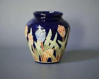 SWISS Ceramic Vase, Swiss Pottery Vase, Swiss Landhaus Vase, Made in Switzerland, Modern Country Ceramic Vase, Swiss Bauernkeramik