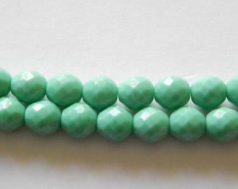 SALE 10mm Faceted Oval Czech Glass Beads