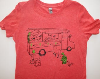 Women's Food truck Tri-blend t-shirt, Size S-XXL