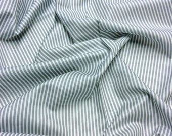 Nutex Wildwood Basic Grey Stripe Patchwork Quilting Dressmaking Fabric