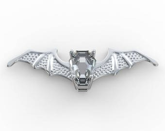 Coffin Gem - 5ct BATWING PENDANT