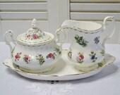 Vintage Royal Albert Sugar Bowl Creamer Set Flower of the Month Serving Pieces Tea Party Accessories England PanchosPorch