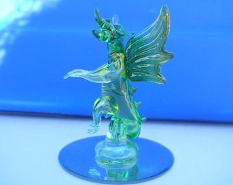 Dragon Genuine Blown Glass statue Art Glass Spun Glass Figure