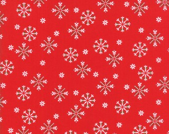 Jingle Birds - Snowflake Red by Keiki for Moda 1/2 yard, 33254 12
