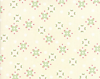 Jingle Birds - Snowflake Cream by Keiki for Moda 1/2 yard, 33254 11