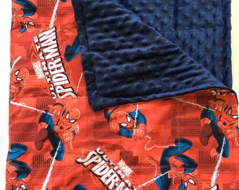 Ready to ship! Spiderman  weighted blanket 35X40  6lbs Anxiety, autism, adhd