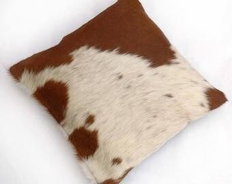 Natural Cowhide Luxurious Hair On Cushion/ Pillow Cover (15''x 15'') A109