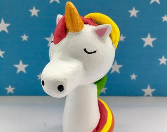Unicorn wooden cake topper