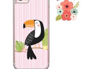 Tropical Toucan iPhone Samsung Galaxy iPod Touch hard case