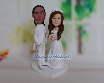 personalized wedding cake topper for wedding unique cake topper for wedding wedding cake topper figurine look like you from your photo