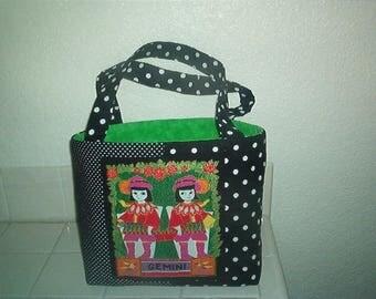 ZODIAC SIGN handmade USA bag, purse-Cricket Court Boutique original