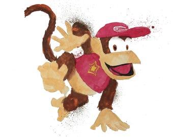 Diddy Kong Print