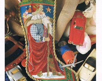 CROSS STITCH PATTERN - Old World Stana Christmas Stocking Counted Cross Stitch Chart - Christmas Cross Stitch