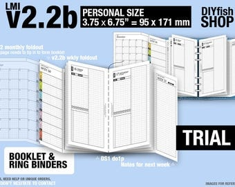 Trial [PERSONAL v2.2b w ds1 do1p] February to April 2018 - Filofax Inserts Refills Printable Binder Planner Midori.