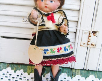 Vintage Czech Composition Doll by Czechoslovak Industrial Art Group Czech