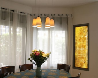 Ceiling Chandelier, Home Decor Light Pendant, Porcelain Lamp Shade, Hanging Light Fixtures, Ceiling Lighting Lamp