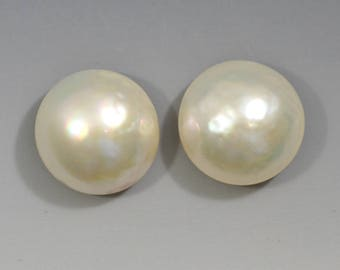 Mabe Pearl Pair 14.5mm Rounds