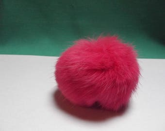 2 tassels fur synthetic coral of 80 mm in diameter, attaches elastic