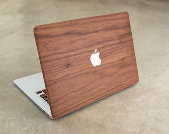 Wood MacBook Real Walnut Skin Cover Decal Case for MacBook 12 Air 11 13 Pro 13 15 Retina 13 15 Touchbar