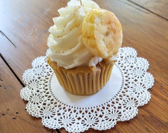 Banana Foster Cupcake Candles that look good enough to eat!