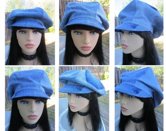 Denim Poor Boy Hat from Re-purposed Jeans