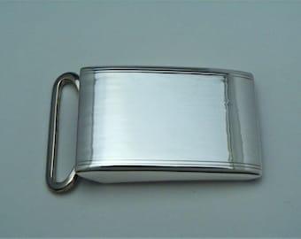 Vintage 925 STERLING Silver Belt Buckle Elegance From Paris France