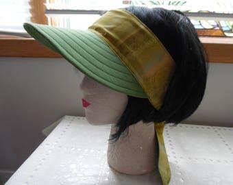 Reversible Scarf Visor / Green Visor / Scarf / Visor / Hat / Sun Hat