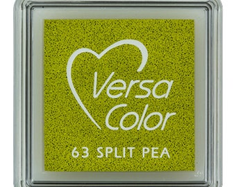VersaColor ink pad, split pea, small ink pad, green inkpad, pigment ink pad, DIY, gift for crafters, craft supplies, rubber stamp ink pad