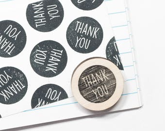 Rubber stamp 'thank you', round stamps, postal stamp, craft supplies, thank you notes, hobby art stamps, wedding stamps, thank you cards