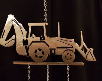 Backhoe Wind Chime