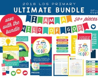 2018 LDS Primary I am a Child of God Ultimate Bundle - Printable - I am a Child of God - Download - Bulletin Board - 2018 Primary Theme