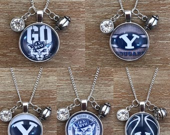 Brigham Young University BYU Cougars College Sports Inspired Fan Charm Necklace