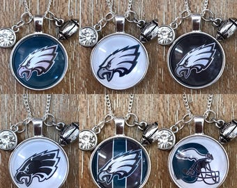 Philadelphia Eagles Football Inspired Fan Charm Necklace