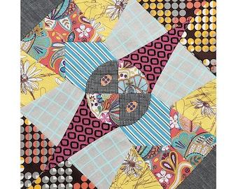 "Free Shipping! New JEN KINGWELL BoN BoN TEMPTERS Acrylic Templates for 10"" Finished Block by Jen Kingwell Designs"