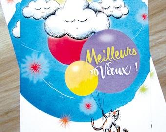 1 Postcard greetings 2016 - illustration - year - Christmas holiday