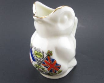Vintage Crested Ware London Franco British Exhibition Bird Shaped Jug